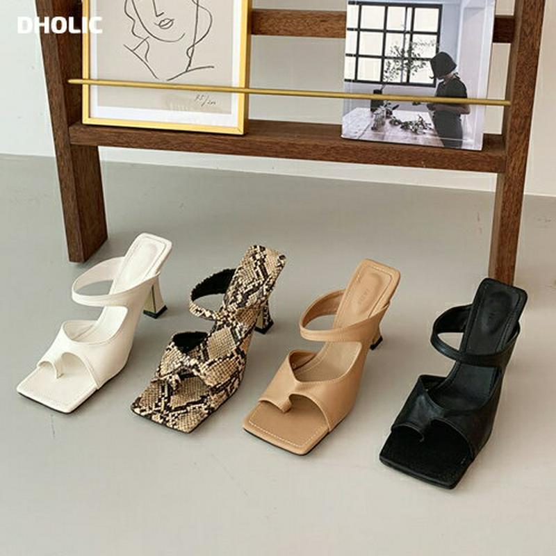 【新作10%OFF】ユニークカットヒールサンダル・全4色・s60492 レディース【sho】【韓国 ファッション サンダル シュ