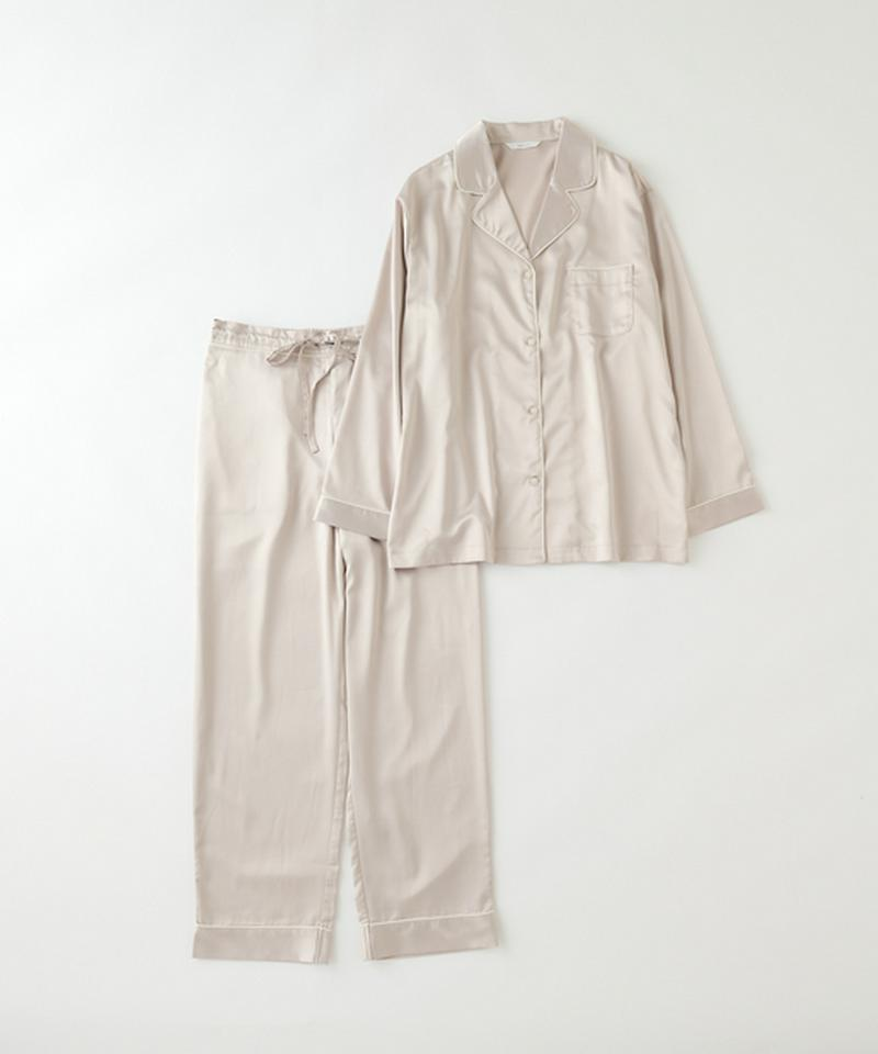 ストレッチサテンパジャマ 上下セット
