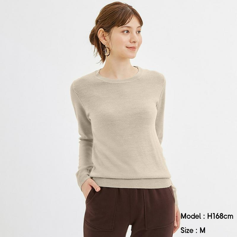 ソフトリッチクルーネックセーター(長袖)