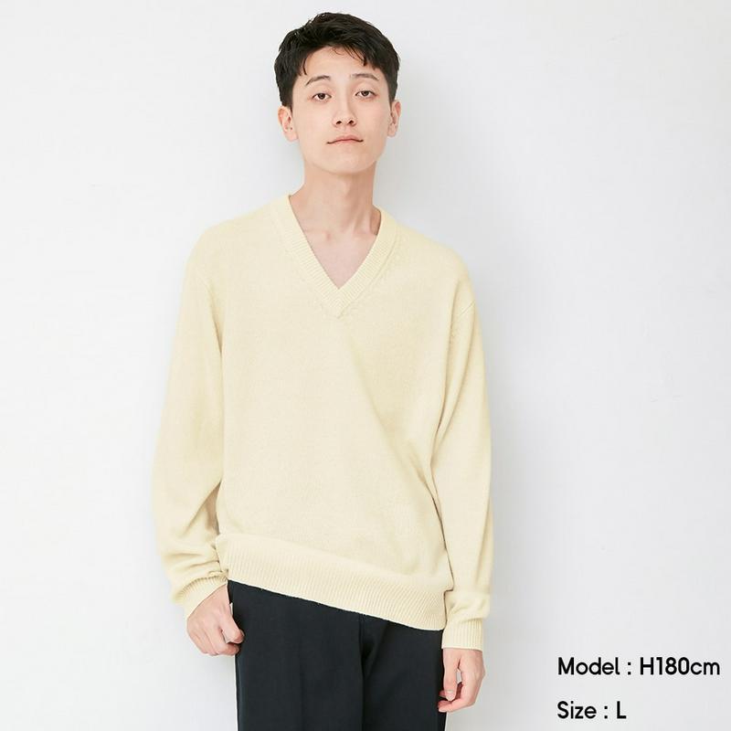 ソフトラムブレンドVネックセーター(長袖)