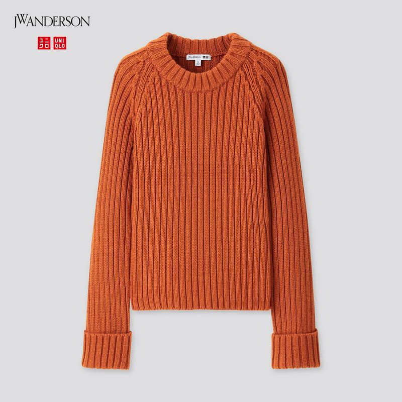 クロップドクルーネックセーター(長袖)