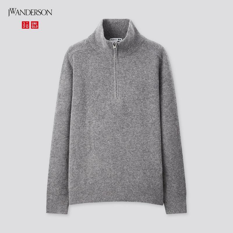 スフレヤーンハーフジップセーター(長袖)