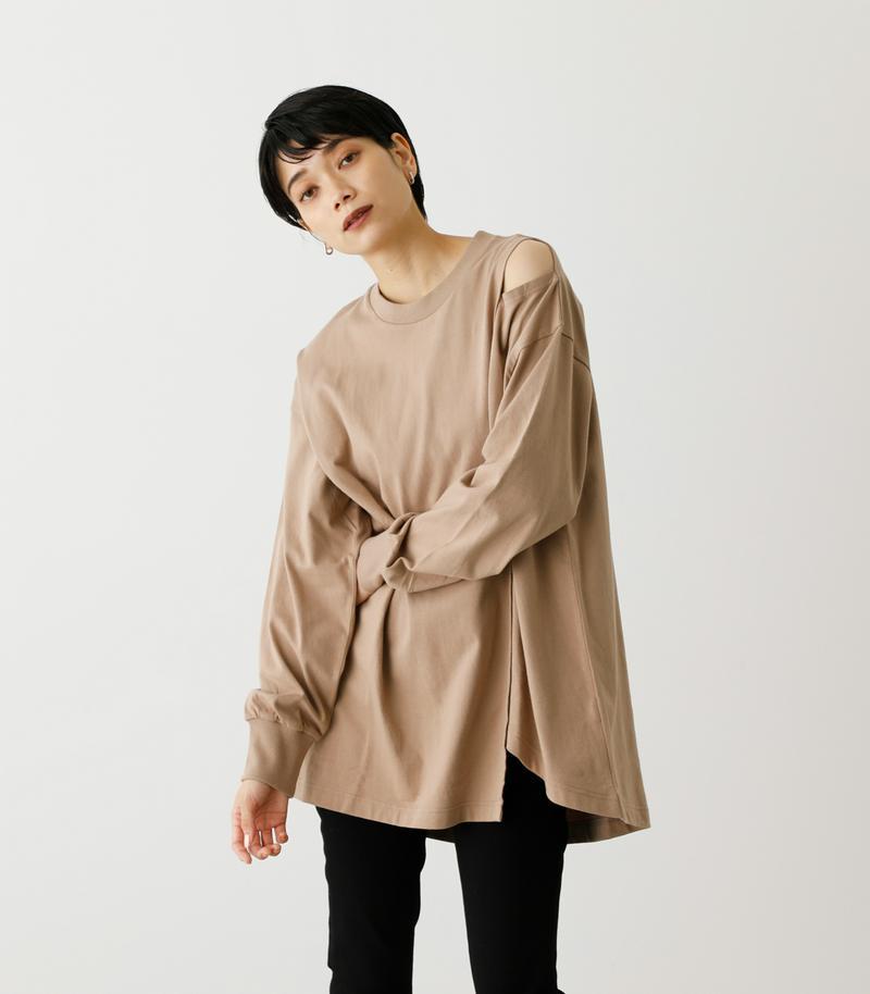 SHOULDER SLIT LOOSE L/S TEE/ショルダースリットルーズロングスリーブTシャツ