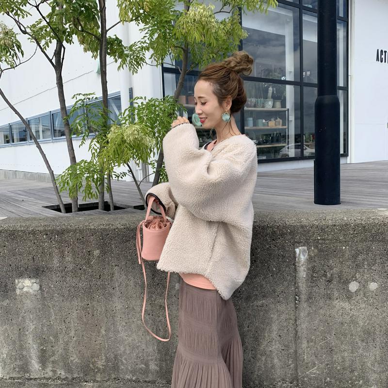 short boa coat