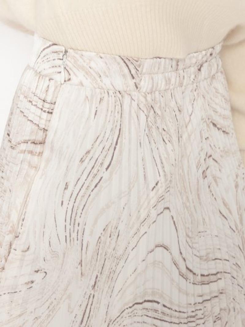 シャイニープリーツナロースカート