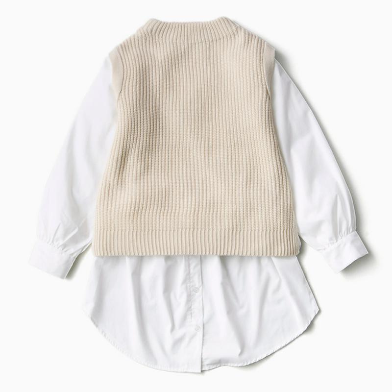 ドッキングニットプルオーバー+付け裾(rinachishima)