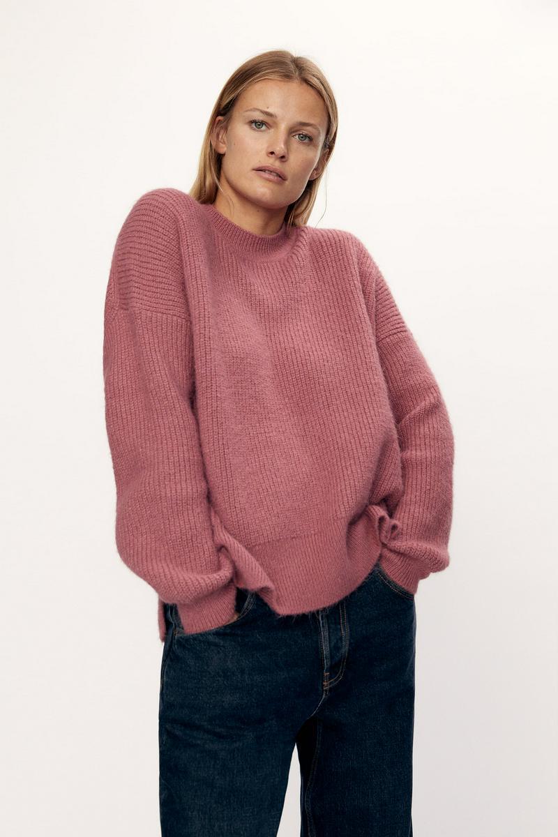 裏編みニットセーター