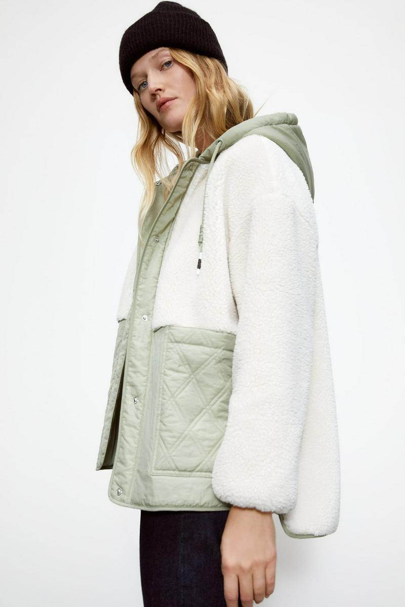 キルティングボア生地ジャケット