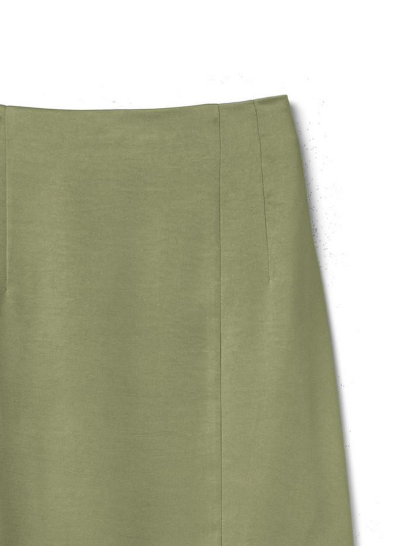 ラップデザインサテンスカート