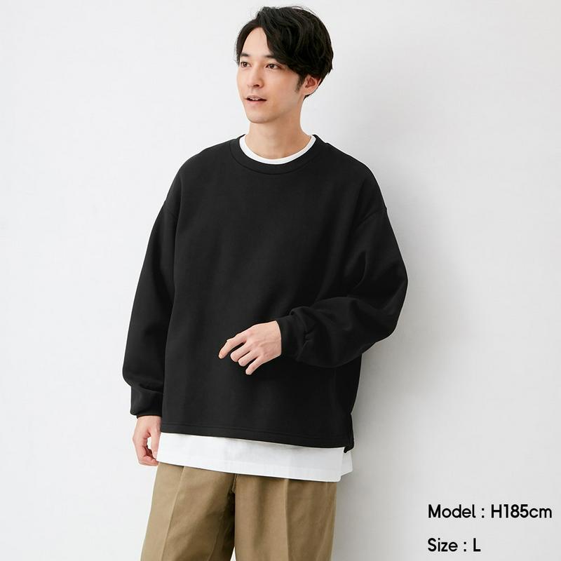 ワイドフィットスウェットシャツ(長袖)NT+E