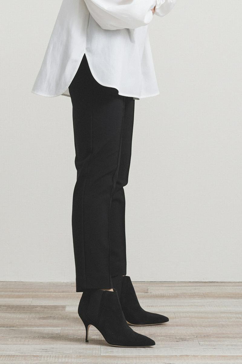 【2020AW】裏起毛ストレッチピンタックパンツ/11月下旬発売