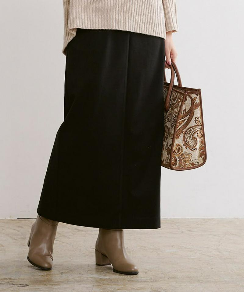 ウールライクサロペットタイトスカート【メール便可/100】