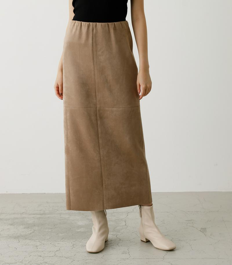 FAKE SUEDE SLIT SKIRT/フェイクスエードスリットスカート