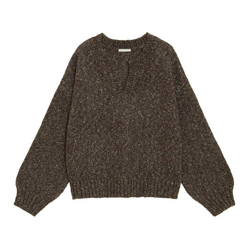メランジキーネックセーター(長袖)Q