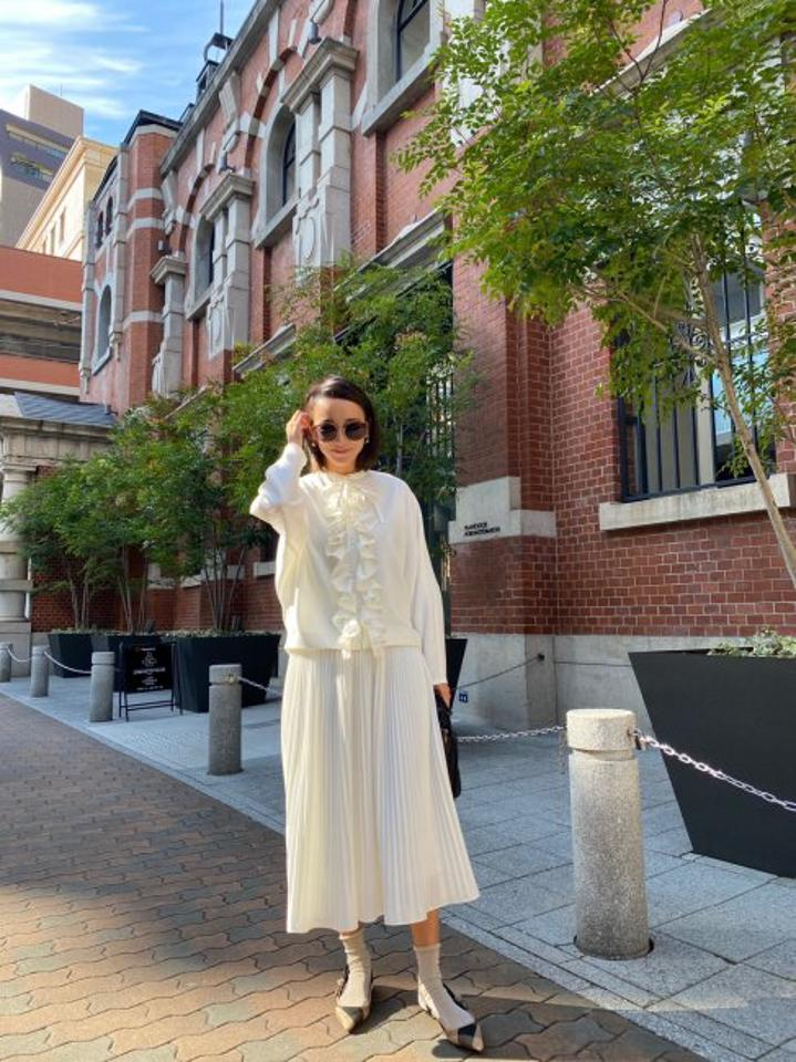 almighty frill blouse【whiteのみ/S・Mサイズ展開】