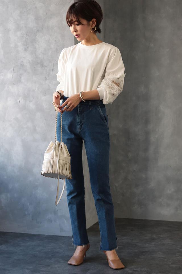 袖刺繍プルオーバー