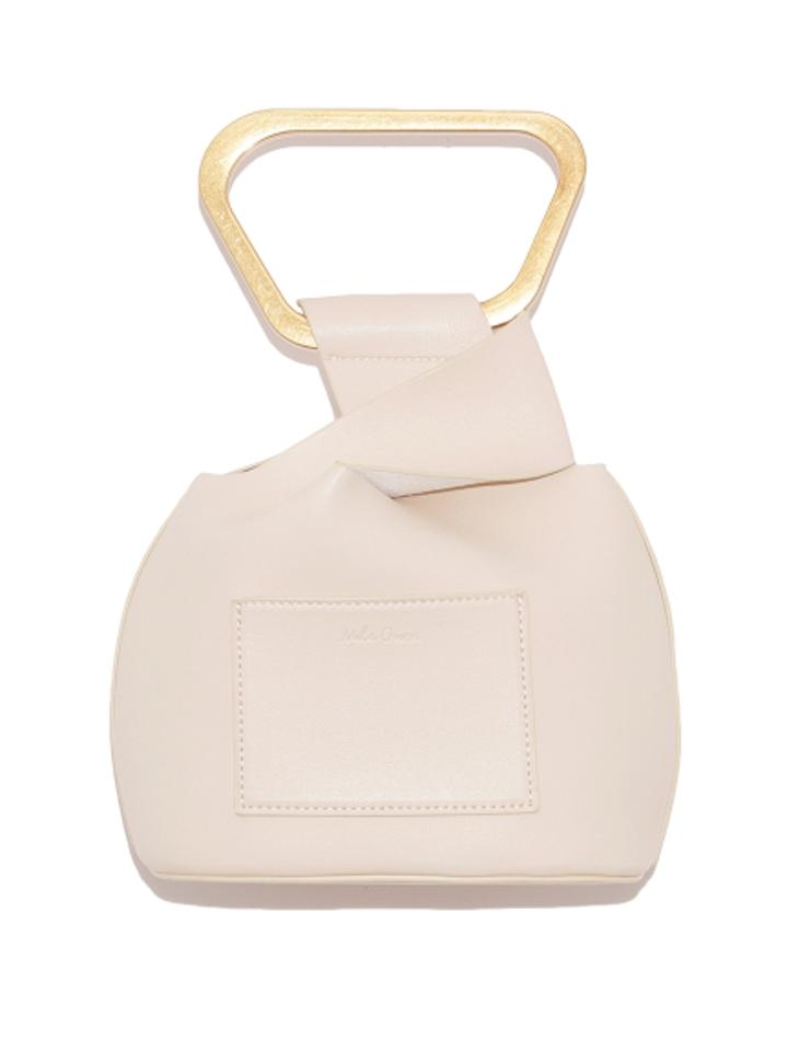 メタルハンドルミニバッグ