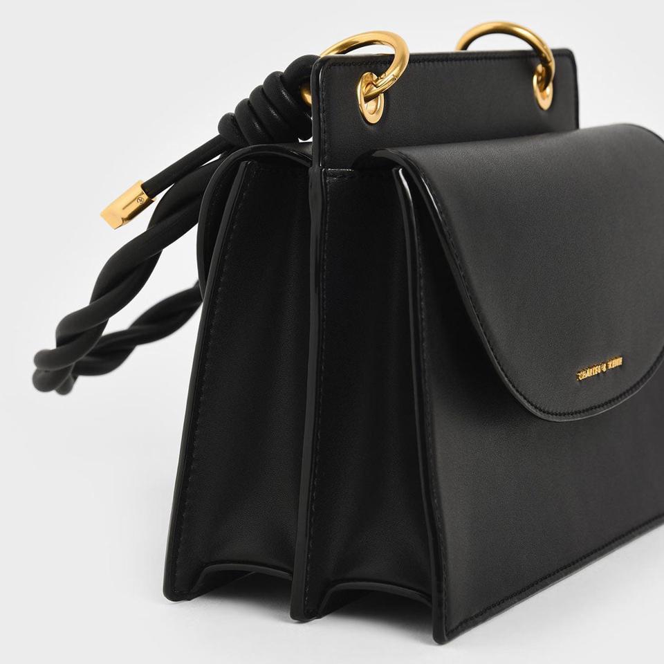 ノッティド トップハンドルバッグ / Knotted Top Handle Bag (Black)