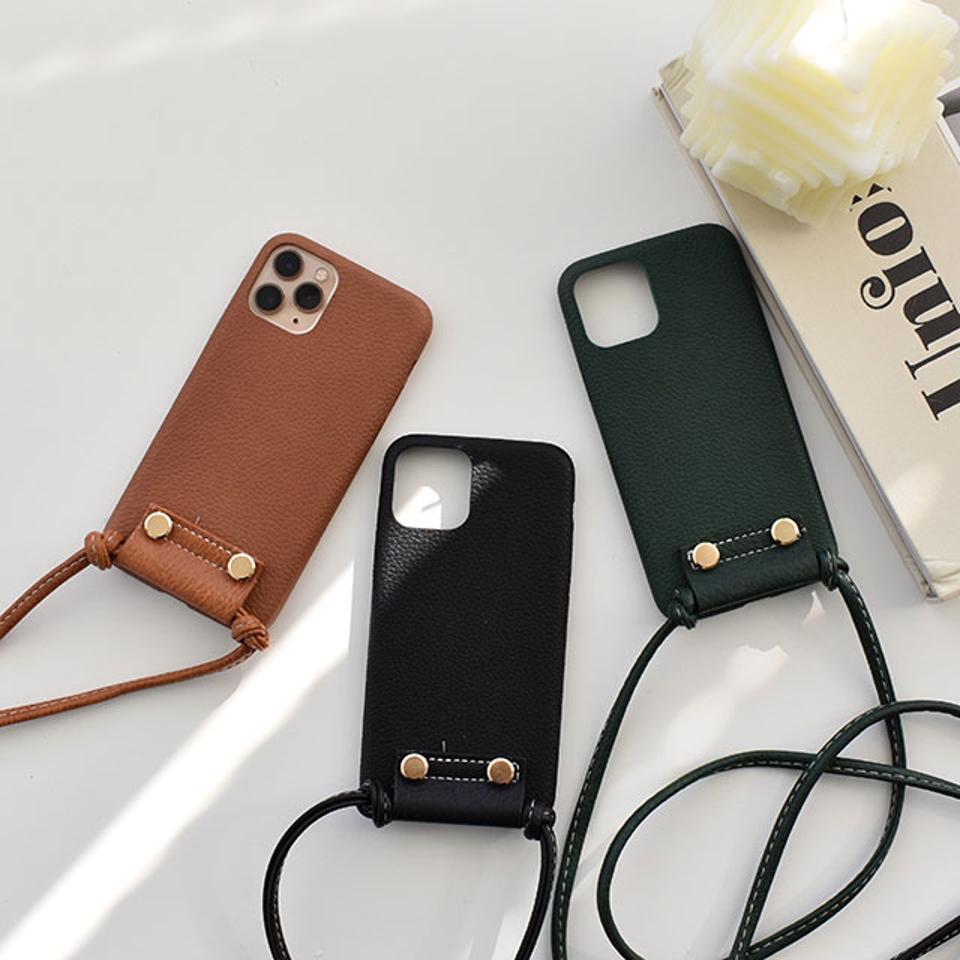 【ネコポス送料無料】ショルダー付き iPhoneケース iPhone7 iPhone8 iPhoneX iPhoneXS iPhone11 iPhone11pro iPhone12 iPhone12mini ブラック/ブラウン/グリーン スマホケース スマホカバー 携帯カバ TPU素材 ソフトケース