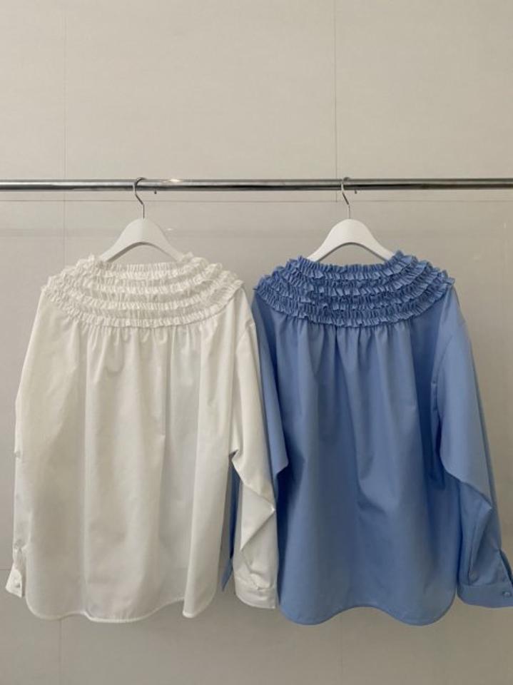 【再々販/新色/予約販売】mini frill blouse【2色展開】※1月中旬頃より順次発送予定