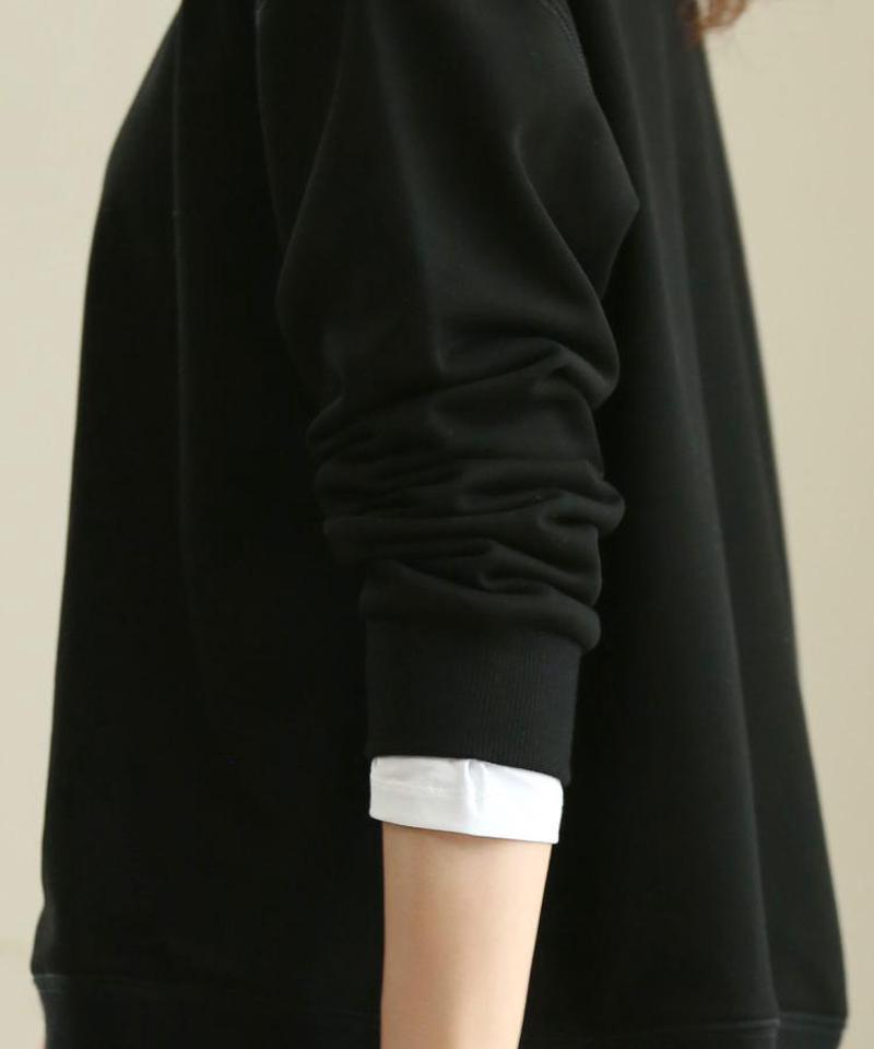 【トレンドスタイル】スウェット×カットソーレイヤード風プルオーバー