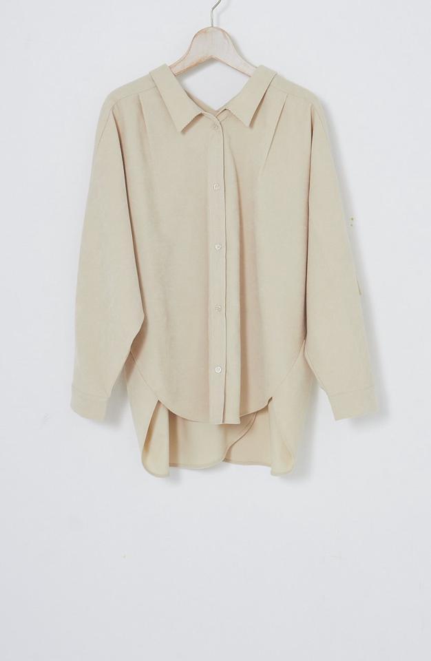 [kuih FES 50%OFF / クーポン対象] コーデュロイバックカシュクールネックシャツ