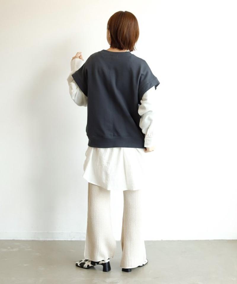 【Holiday】◆2021.SS◆ マルチウェイスウェットトップ : 袖取り外し可