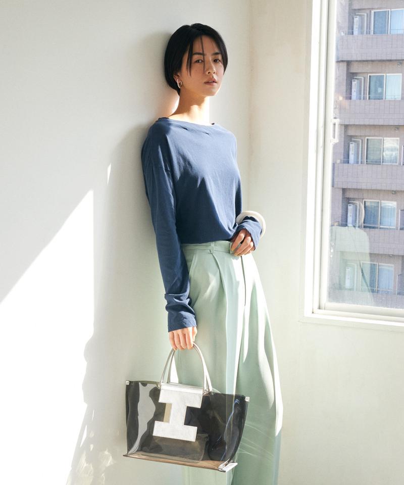 メタリックレザークリアトートバッグM【SORBETTO-3420/GOMMA】