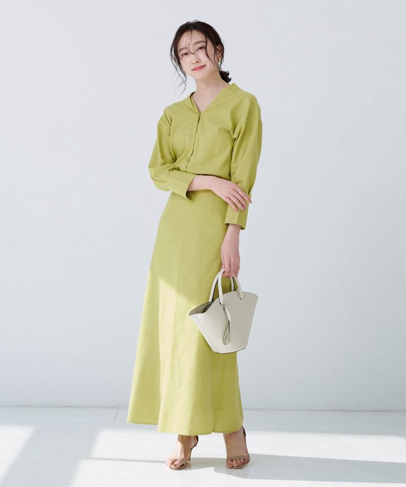 麻混前後2wayシャツ【メール便可/100】