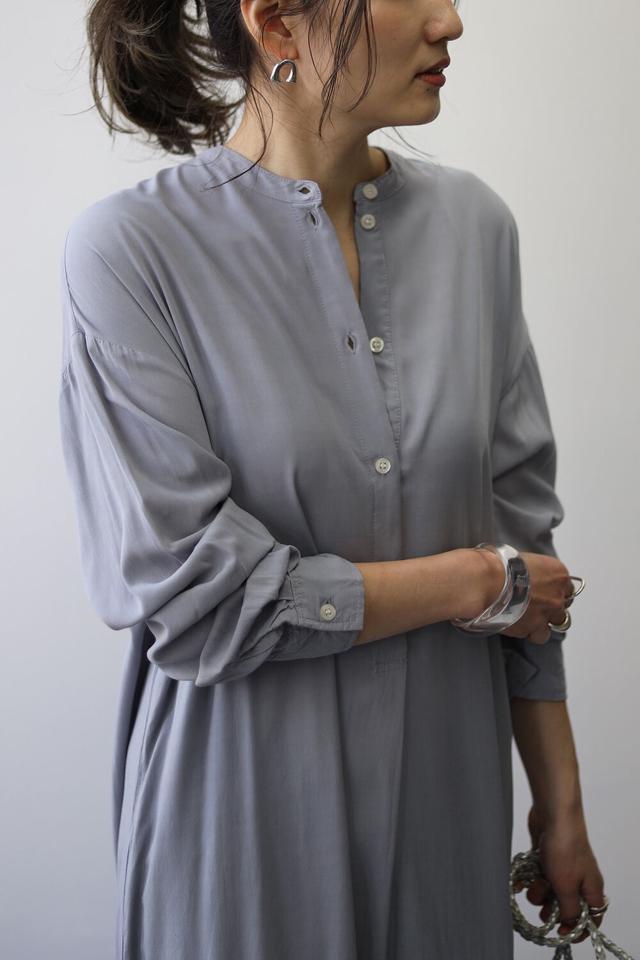 【予約】裾フレアロングワンピース