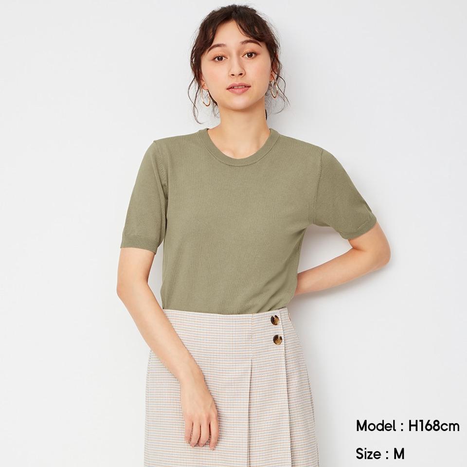 クルーネックセーター(半袖)