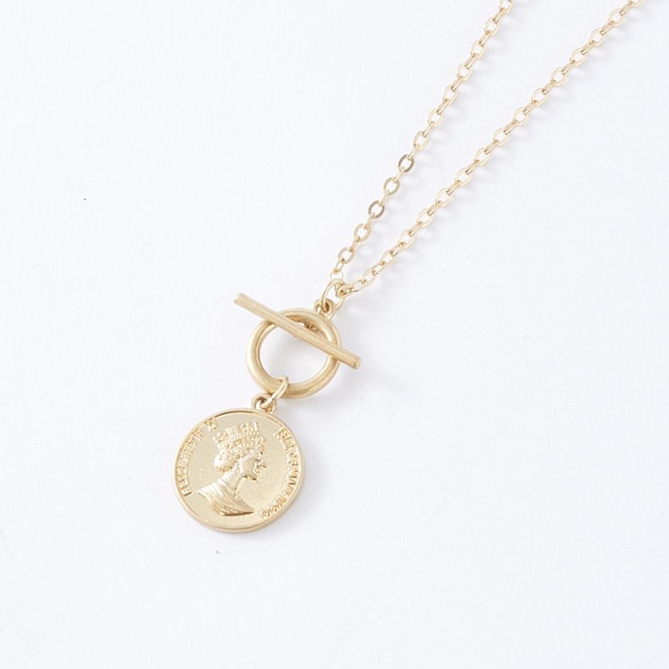 メダルモチーフネックレス(星玲奈)