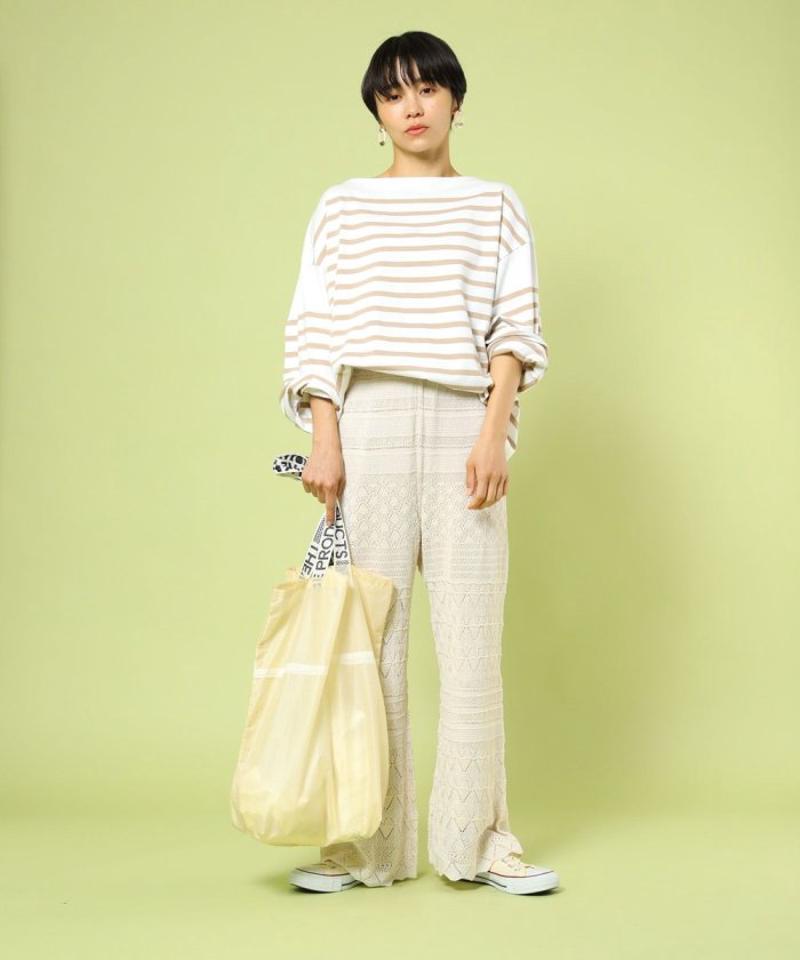 リネンライク透かし編みパンツ【WEB限定】