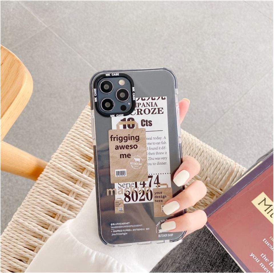 logoステッカーiPhoneケース(ブラック)iPhone12 12Pro 12ProMax iPhone8 iPhoneSE 第2世代 se2 iPhone11 11pro 11promax 12mini ケース XR XS X XSMax 8Plus 7 スマホケース iphoneケース かわいい 韓国 オシャレ iphone se ケース メール便【21SSiPhone】