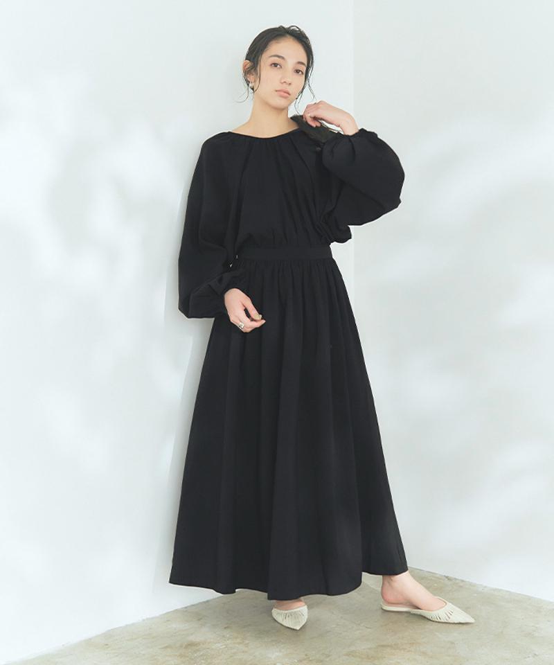 バックシャンギャザーワンピース〔人気商品!予約〕