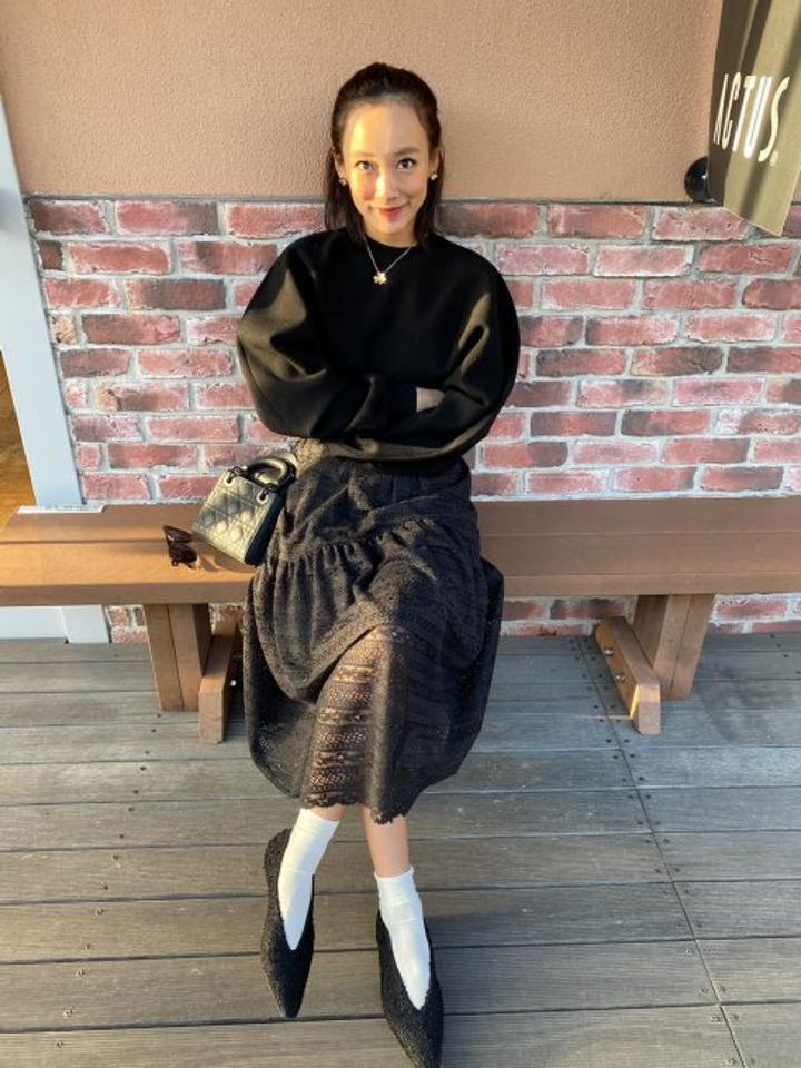 【予約販売】washable lace skirt【2色展開/SMサイズ展開】※2月下旬~3月上旬頃より順次発送予定