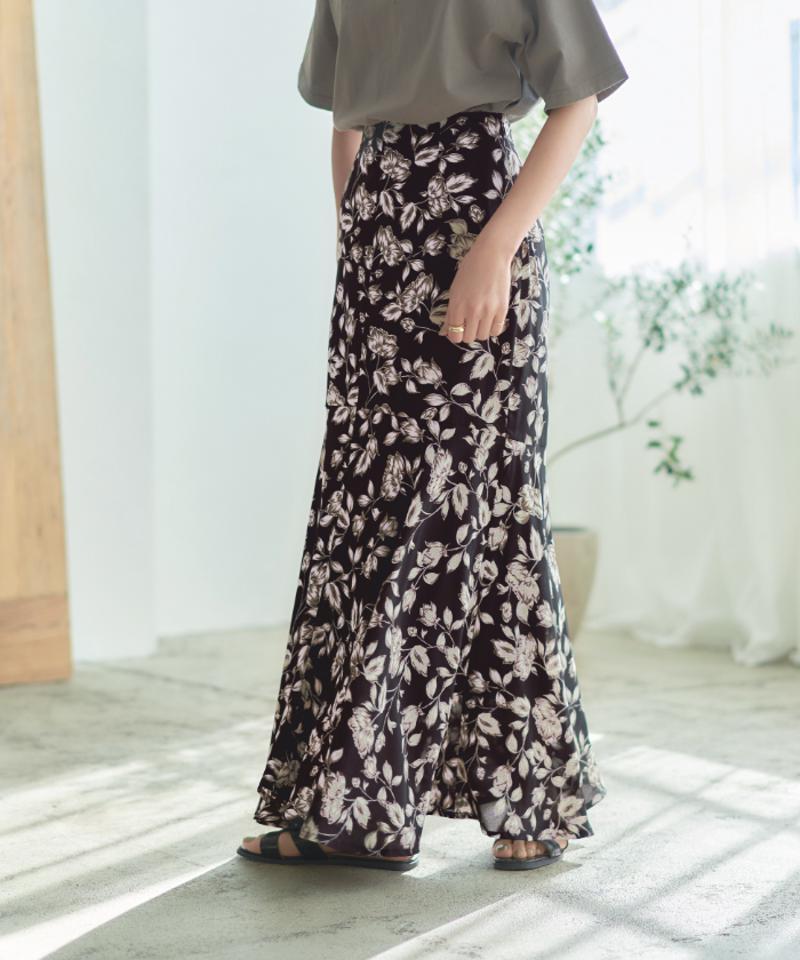 マーメイド切替ロングスカート【メール便可/100】