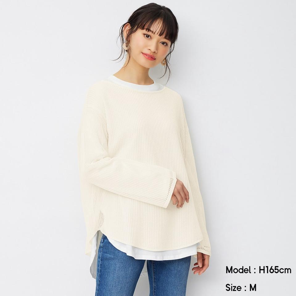 メッシュセーター(長袖)