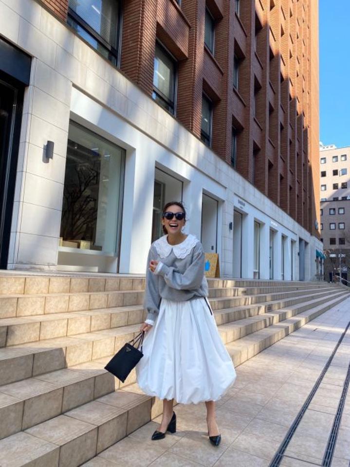 【予約販売】balloon skirt【2色展開/丈2種類あり】※3月上旬頃より順次発送
