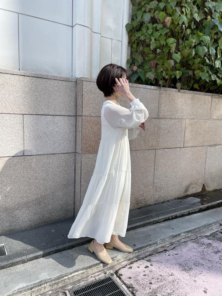 ¥6589→¥5500!先行受注受付【送料無料】Originalティアードシフォンワンピース