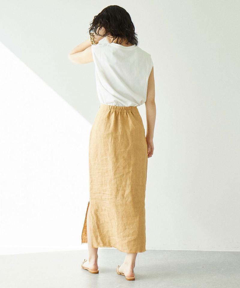 キャンバスリネンスカート