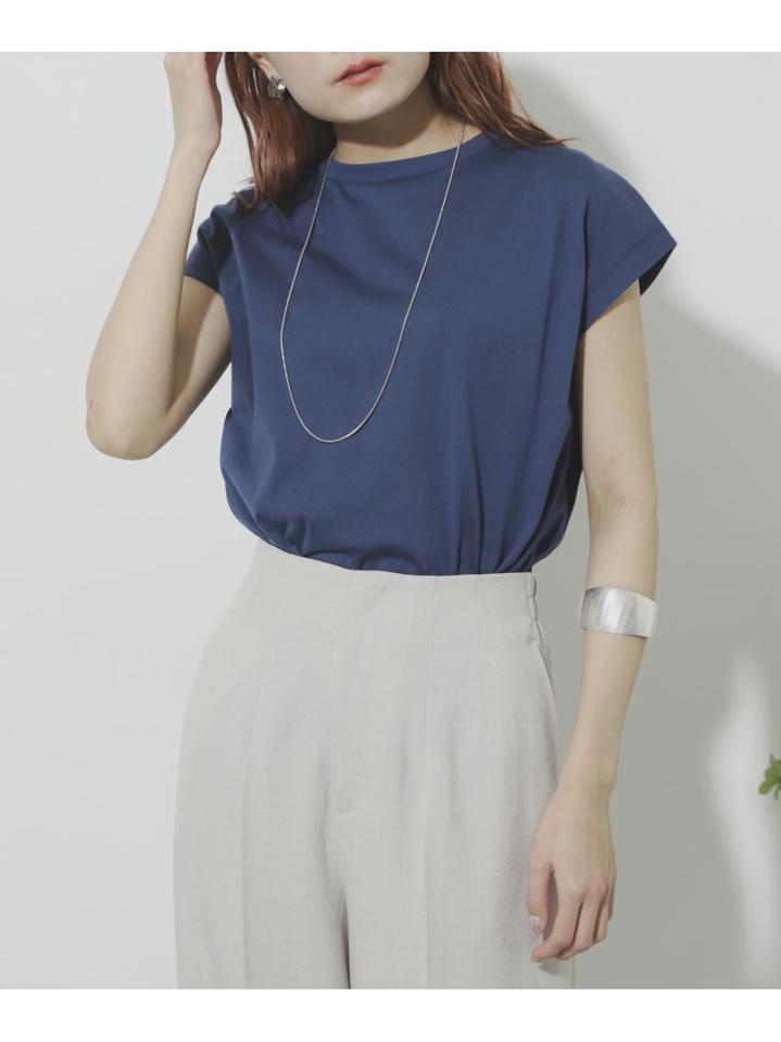 オーガニックコットンフレンチスリーブTシャツ