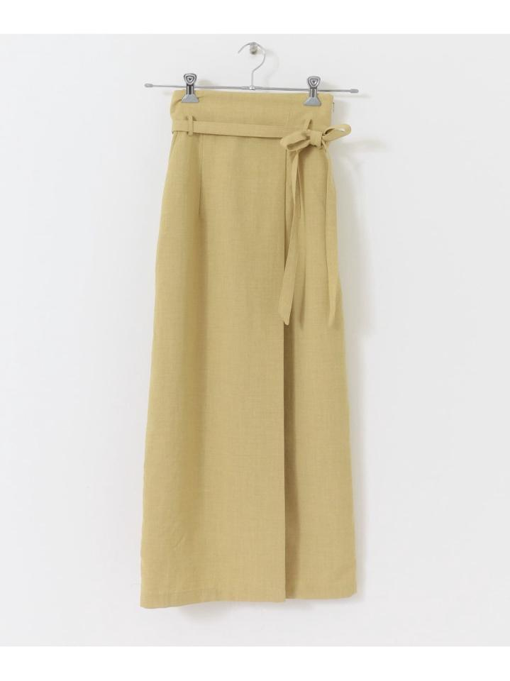 【Tallサイズ/WEB・一部店舗限定】リネンライクハイウエストラップスカート