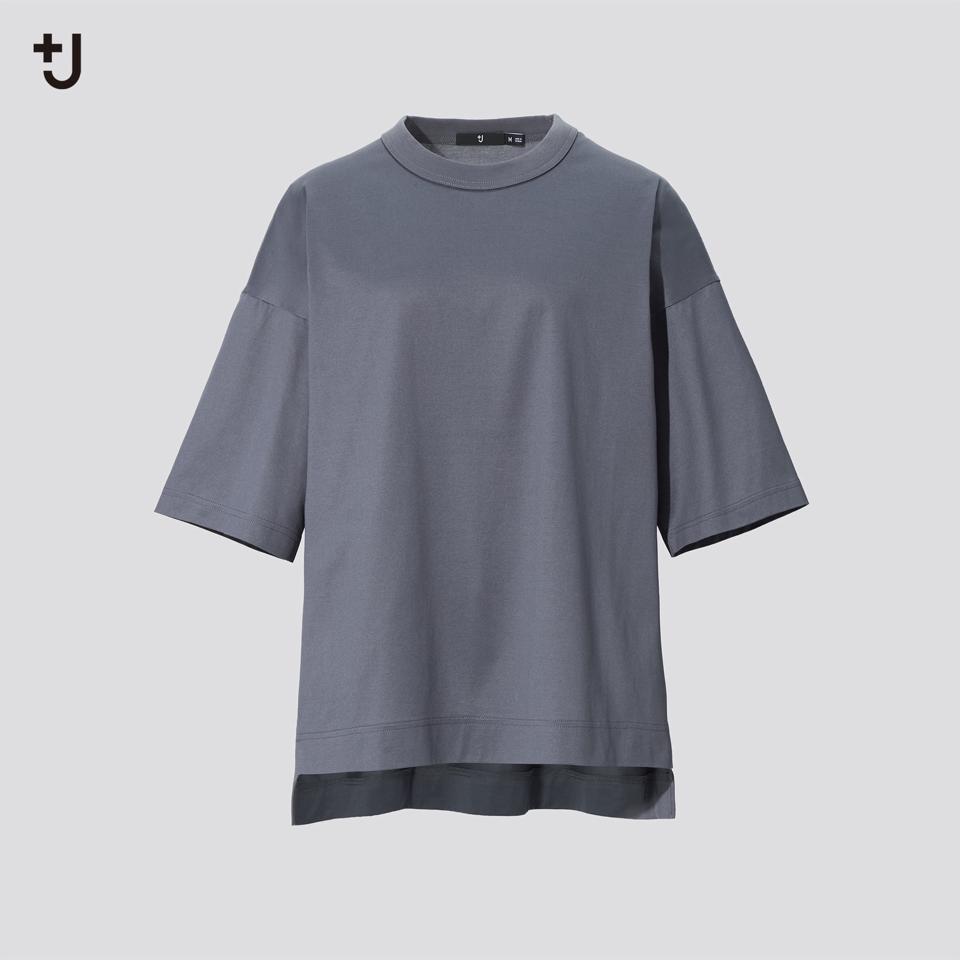 スーピマコットンオーバーサイズT(5分袖)