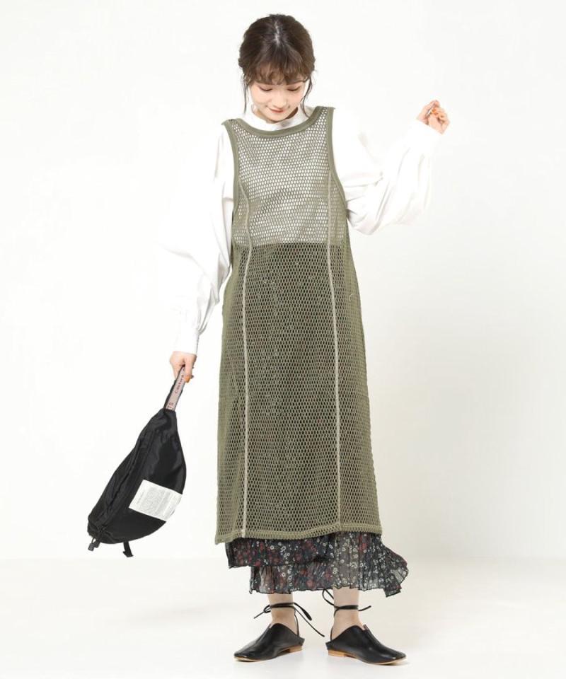 メッシュ2WAYワンピース【一部予約商品】