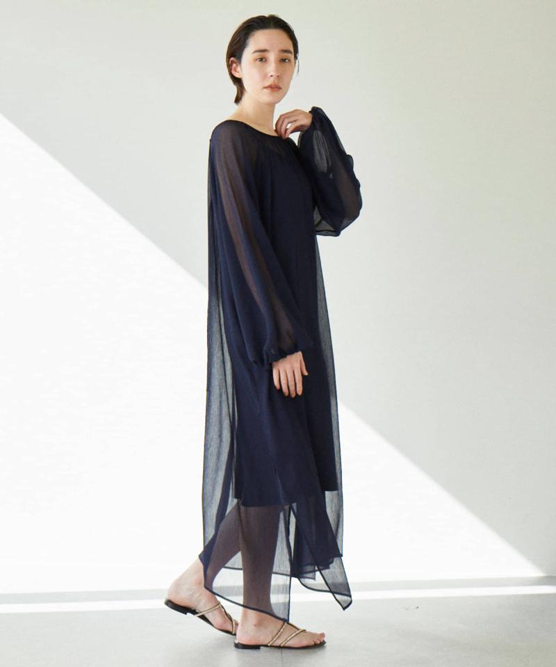 シアーギャザードレス