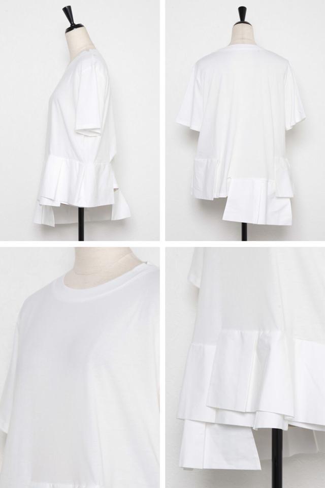 【一部予約】裾切り替えデザインカットソー