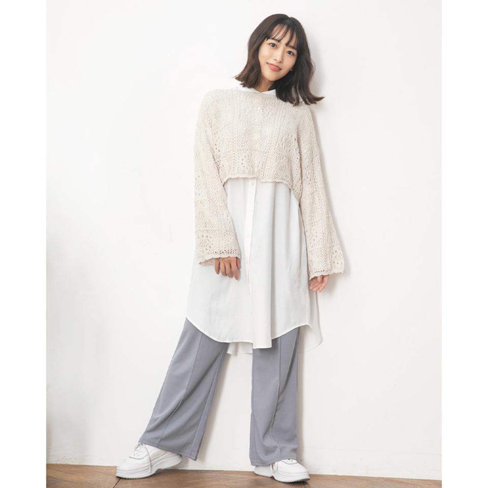レディース バンドカラーシャツ(近藤千尋)