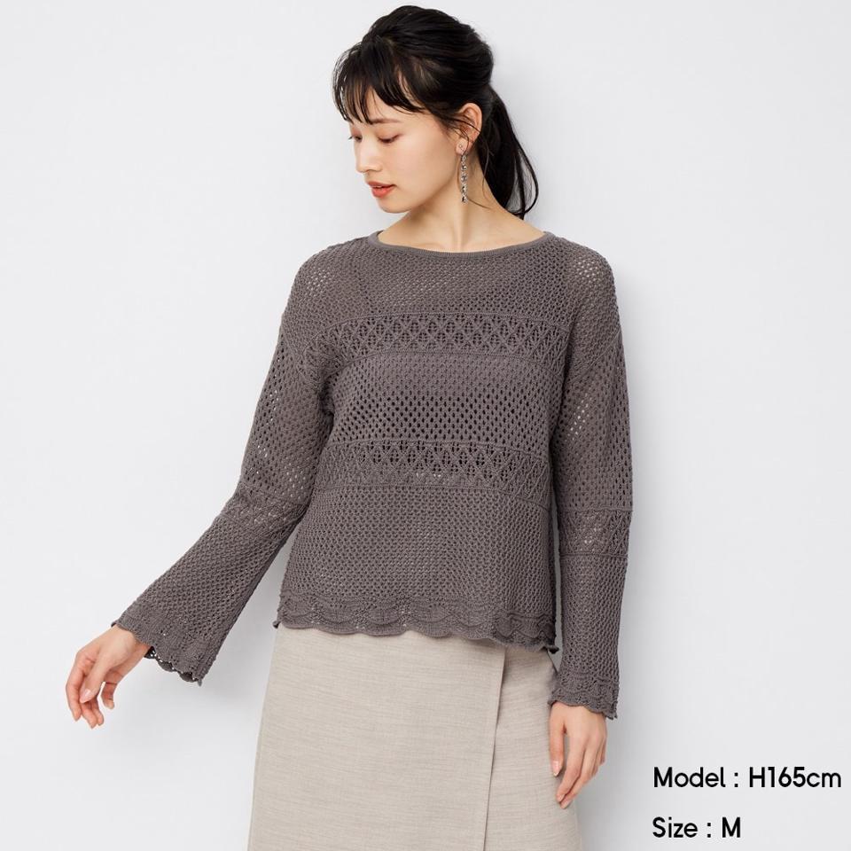 レーシースカラップセーター(長袖)SD+E
