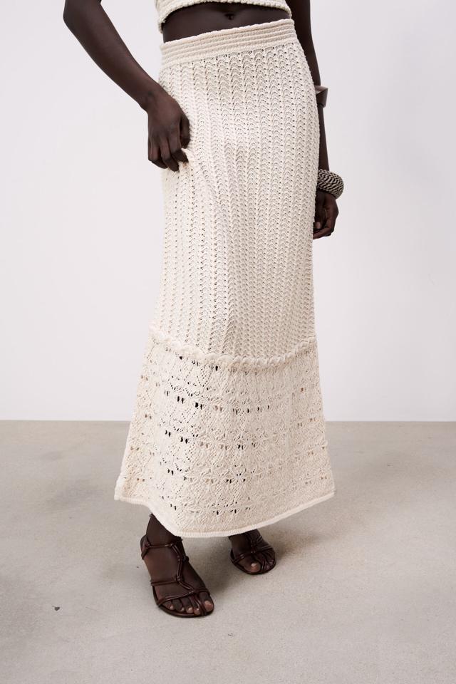 オープンニットスカート